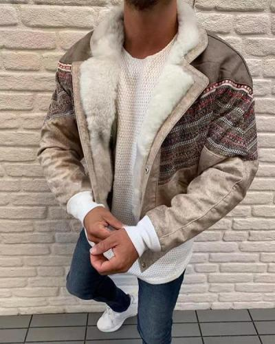 Fashion Color Matching Men's Jacket