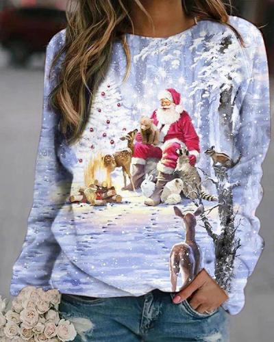 Christmas Santa Claus Digital Printed Sweatshirt