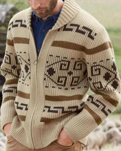 Fashionable Long Sleeve Fall Winter Cardigan
