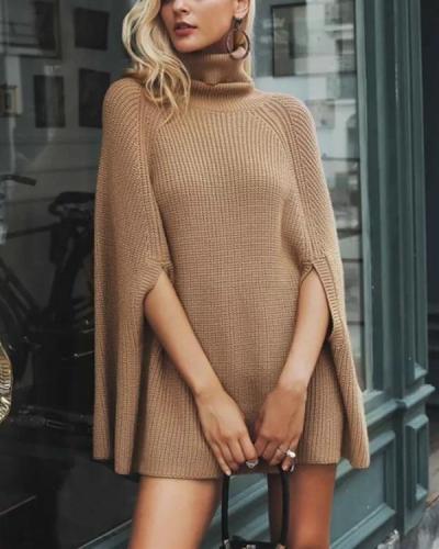 Batwing Sleeve Regular Mid-Length Women's Sweater