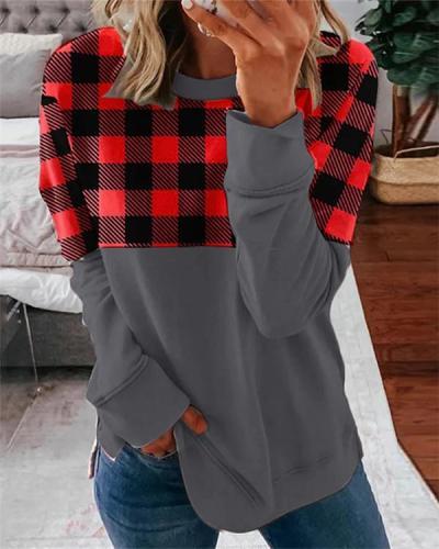 Colorblock Casual Long Sleeve Sweatshirt
