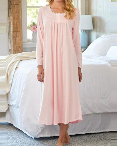Sweet Dreams Long-sleeve Nightgown