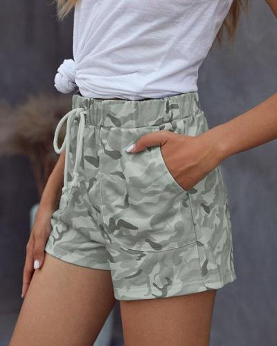 Casual Camo Daily Sporty Shorts