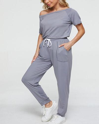 Pure Color Ladies Casual Suit