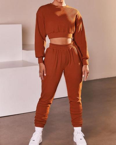 Casual Sweatshirts Sportswear Top & Pant Suit
