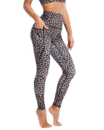 Leopard Pocket Fitness Legging Yoga Pants