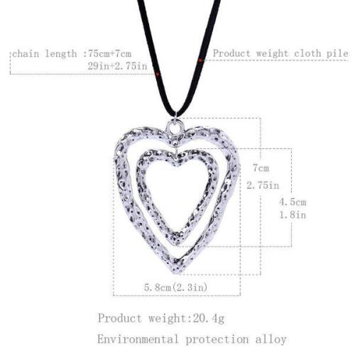 Sliver Casual Alloy Necklaces