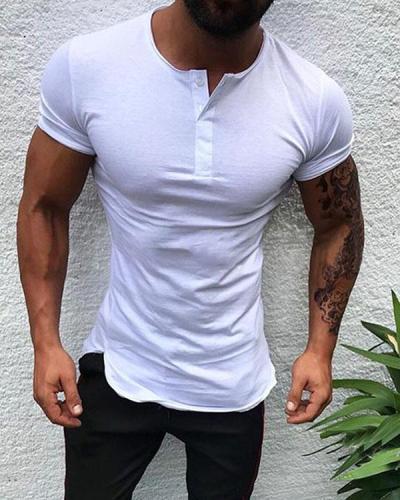 Mens Solid Casual Leisure Slim Shirts