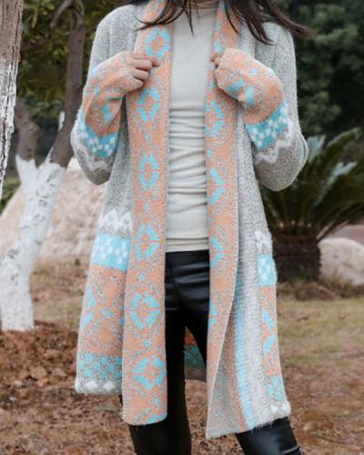 Women's Bohemian  Midi Knitted Cardigan