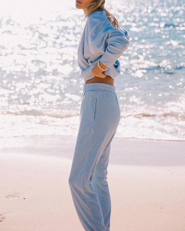 Women Fashion Simple Temperament Sweater Suit