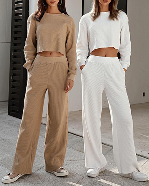 Women Fashion Casual Sweater Set