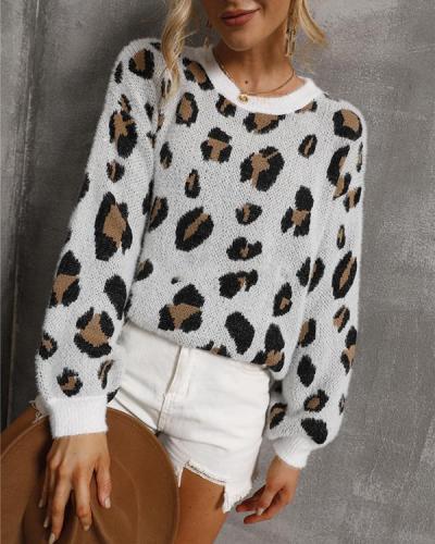 Personalized Leopard Print Women's Sweater