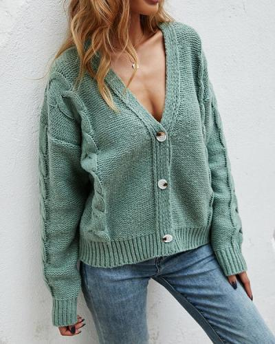 Women's Cardigan Button Sweater
