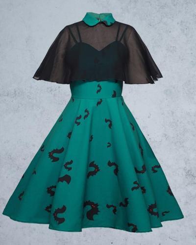 Halloween Sling Print Dress