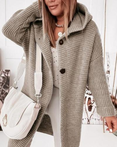 Shift Simple Solid Long Sleeve Sweater