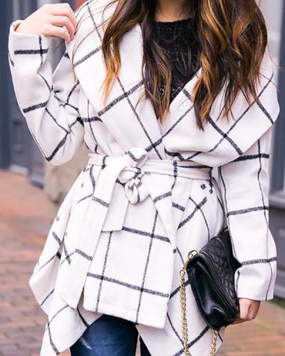 Plaid Rabato Wrap Jacket