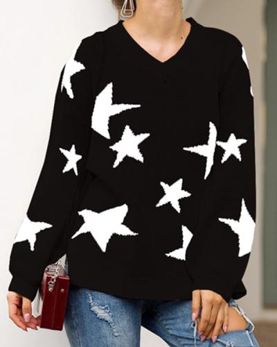 Fashion Lazy Wind Sweater Loose Sweater