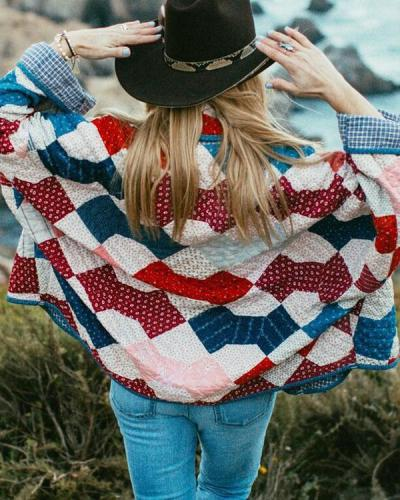 Ethnic Style Casual Loose Personality Ladies Jacket