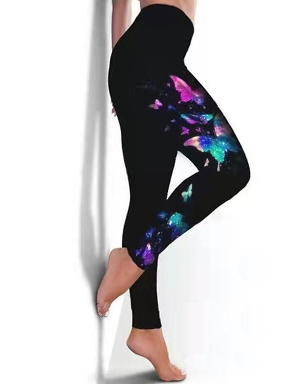 Fashion Print High Waist Leggings