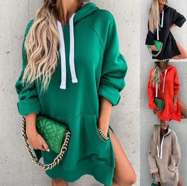 Casual Long Sleeve Solid Color Sweatshirt