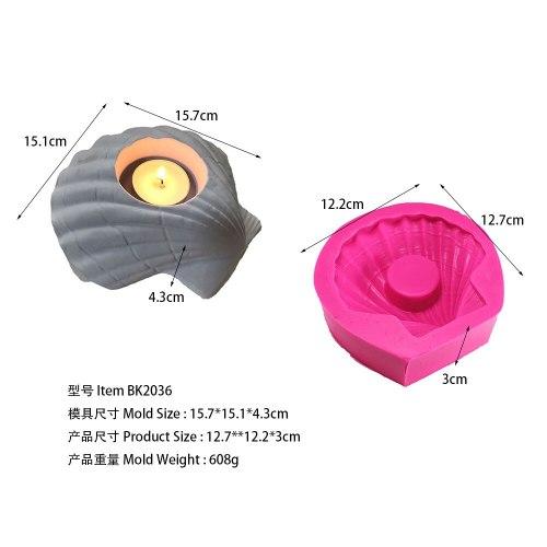 BK2036 Shell Silica Gel Gypsum moldes para reposteria