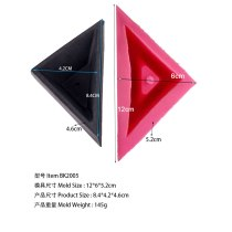 BK2005 small cement triangular flowerpot   Qiqiao board series