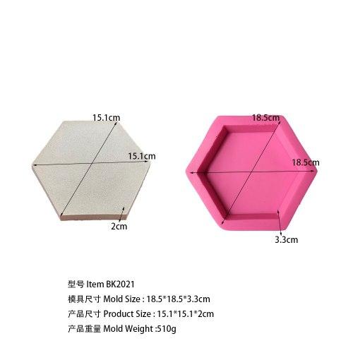 BK2021 hexagonal aromatherapy gypsum