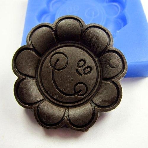 A1018  cake decorating mini sunflower fondant mold decoration tools