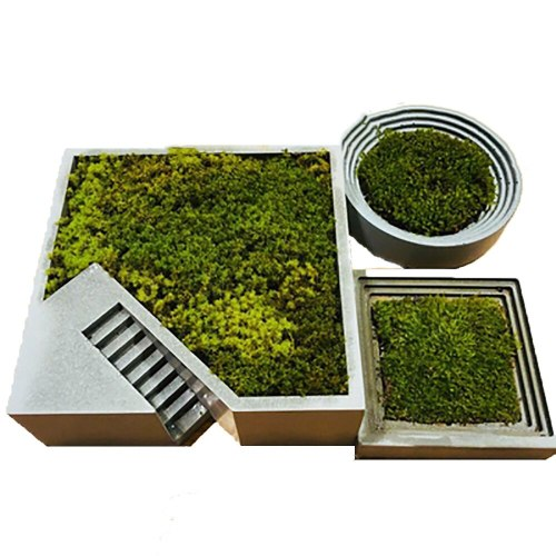 BK2017 clear water concrete square stair silica gel flowerpot fleshy flower pot mold