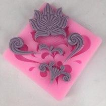 BK1034 flower decoration silicone mold turn suga