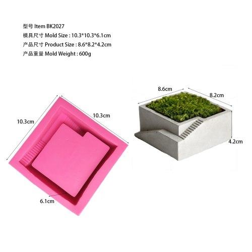 BK2027 square staircase concrete cement silica