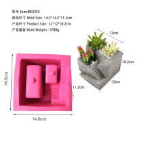 BK2018 small house staircase cement flowerpot