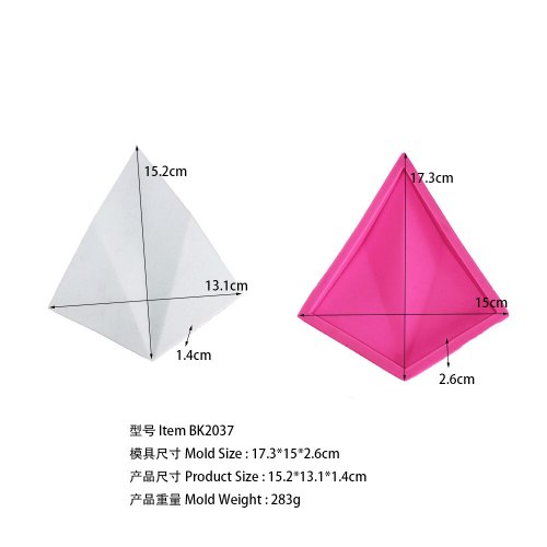 BK2037 Geometric Cement Silicone Mould