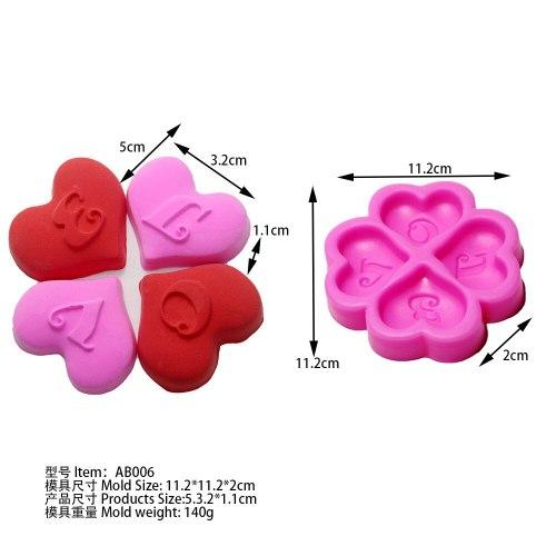love heart shaped AB006