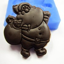 A1021 Santa Claus  Christmas gift mold fondant