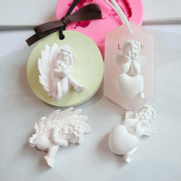 BK1007 3D Angel Silicone Molds
