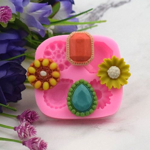 BK1025 New Arrival Diamond Flowers Shape Fondant