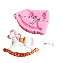 BK1046 Horse Fondant Cake Silicone