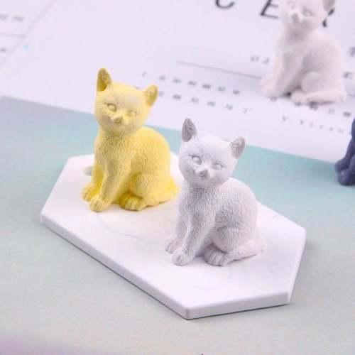 BK1086 DIY 3D Cat Candle Mold