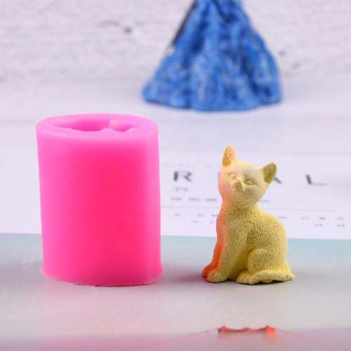 BK1086 DIY 3D Cat Candle Mold