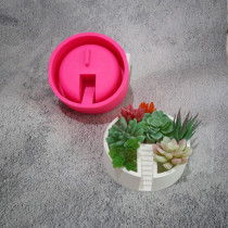 BK2016 circular staircase cement concrete silica gel pot mold