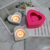 BK2039 heart-shaped Candlestick silica gel mould aromatherapy plaster