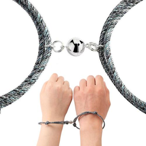 2Pcs Couple Bracelet Friendship Rope