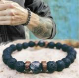 Men Bracelet Natural Moonstone Bead Tibetan Buddha Men Bracelet