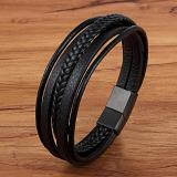 Fashion Stainless Steel Charm Magnetic Black Men Bracelet