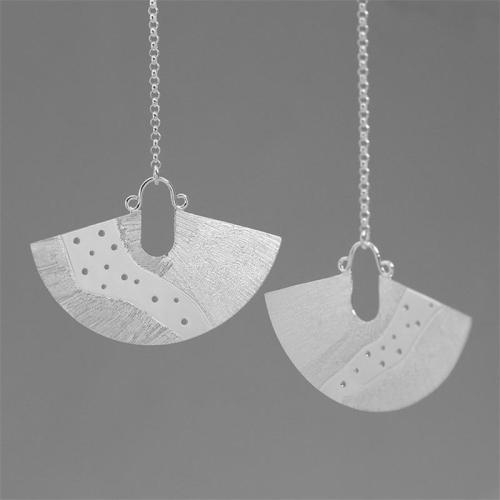 925 Sterling Silver Drop Earrings for Women Vintage
