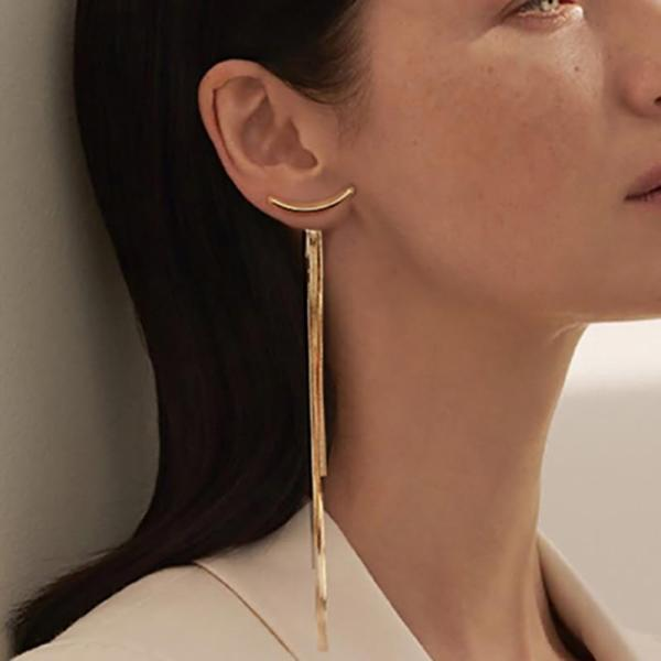 Vintage Long Thread Tassel Drop Earrings for Women