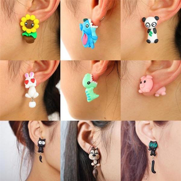 Cartoon Earrings For Women Lovely  Animal