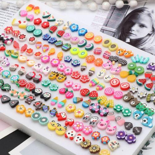 Cartoon Assorted Styles Hypoallergenic Stud Earrings Kids