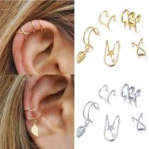 Non-Piercing Ear Clips Fake Cartilage Earring Jewelry Women Men